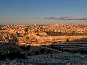The walls of Jerusalem's old city