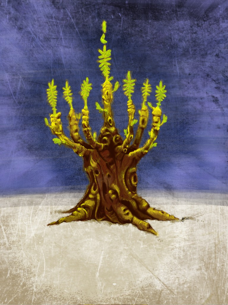 Jay's Olive Tree Menorah