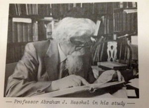 Heschel in his study