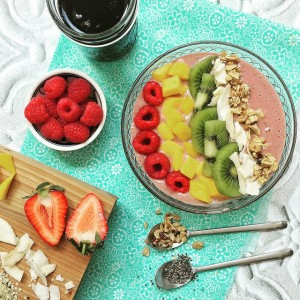 smoothie in a bowl